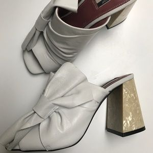 TopShop Prosecco Pearl High Heel Mule Size 37/6.5
